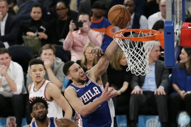 Philadelphia 76ers guard Ben Simmons recently signed a five-year contract extension. File Photo by John Angelillo/UPI