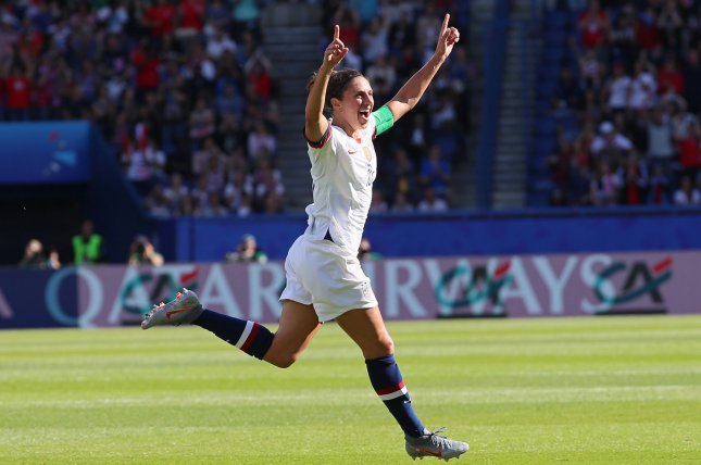 Carli Lloyd scored twice to lead the U.S. Women's National Soccer Team over Sweden on Thursday. File Photo by David Silpa/UPI