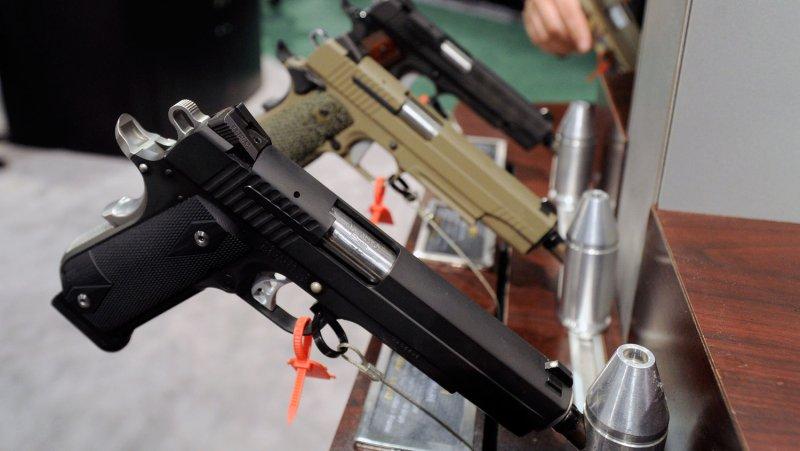 Firearms at a trade show. File/UPI/David Becker