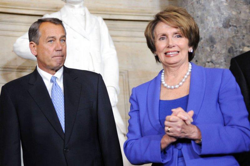Speaker of the House John Boehner and Minority Leader Nancy Pelosi. UPI/Olivier Douliery/Pool