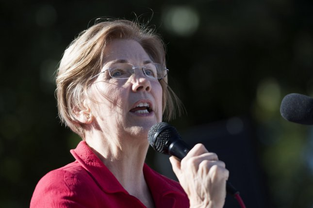 Sen. Elizabeth Warren, D-Mass., joined indigenous groups in expressing opposition to a provision in a tax bill that opens parts of an Alaskan wilderness area to oil and gas drillers. File photo by Kevin Dietsch/UPI