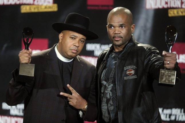 (L-R) Run-DMC members Joseph Rev Run Simmons and Darryl DMC McDaniels. The group's album Raising Hell has been chosen to join the National Recording Registry along with an album by Fleetwood Mac. File Photo by Alexis C. Glenn/UPI