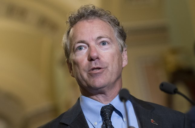 Sen. Rand Paul, R-Ky., sued his neighbor Rene Boucher for damages after he attacked the senator in his front yard as he was mowing his lawn in November, breaking five of his ribs and bruising his lungs. File Photo by Kevin Dietsch/UPI