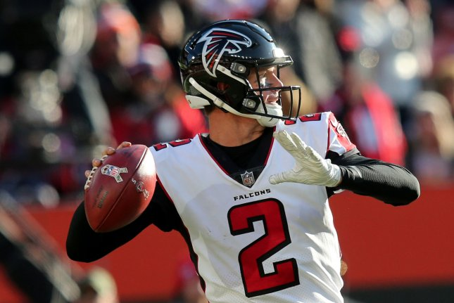 Atlanta Falcons quarterback Matt Ryan prepares to throw a pass against the Cleveland Browns on November 11 at First Energy Stadium in Cleveland. Photo by Aaron Josefczyk/UPI