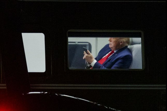 Historians on Tuesday sued the Trump administration over a White House policy of taking screen shots to preserve smartphone messages as presidential records, saying it is in violation of the Presidential Records Act. Photo by Shawn Thew/UPI