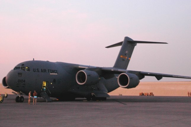 A U.S. Air Force C-17 Globemaster III was deployed during joint U.S.-South Korea exercises this week. File Photo by Shaun Withers/U.S. Air Force/UPI