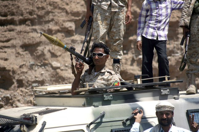 Worldwide peace decreased as $13.6 billion, or 13.3 percent of global gross domestic product, was spent on violence and conflict. Yemen saw the most deterioration of peace in 2015 amid a war between the militants loyal to the Yemeni goverment, seen here in Taiz in March, 2015, and Houthi rebels. File Photo by Anees Mahyoub/UPI