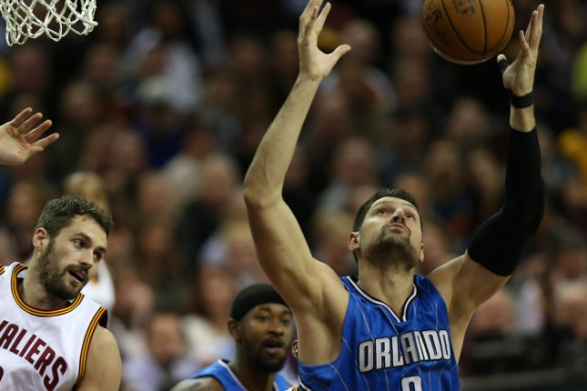 Nikola Vucevic and the Orlando Magic take on the Chicago Bulls in Mexico on Thursday. Photo by Aaron Josefczyk/UPI