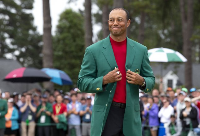 President Donald Trump called Tiger Woods a truly great champion after the 43-year-old golfer won his fifth Masters championship. Photo by John Angelillo/UPI