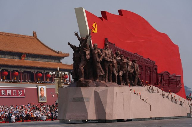 China marks the 70th anniversary of its founding this year. The anniversary is being observed in North Korea in a photo exhibit, according to Chinese state media. File Photo by Tom Walker/UPI