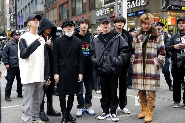 BTS has set a new YouTube record for most views for a music video in the 24 hours since it was released. File Photo by John Angelillo/UPI