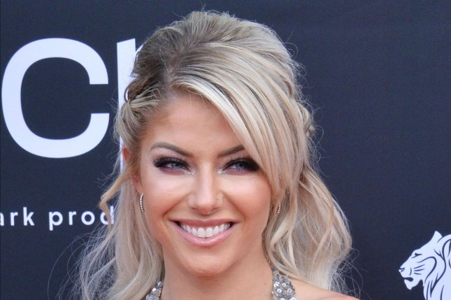 Alexa Bliss was the big winner at Money in the Bank 2018 and is competing again at the 2021 edition on Sunday. File Photo by Jim Ruymen/UPI