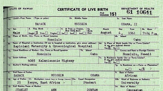 This copy of U.S. President Barack Obama's Long Form Birth Certificate was released by the White House on April 27, 2011. During a statement Obama said We do not have time for this kind of silliness. We've got better stuff to do. I've got better stuff to do. UPI/White House