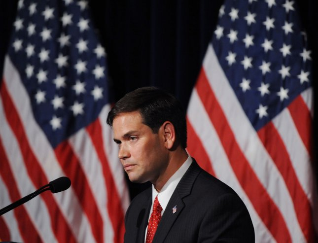 U.S. Senator Marco Rubio (R-FL), who is now under attack from birthers, on August 23, 2011. UPI/Jim Ruymen