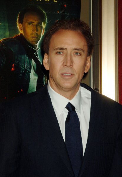 Actor Nicolas Cage arrives for the premiere of her new film National Treasure: Book of Secrets held at New York's Ziegfeld Theater on December 13, 2007. (UPI Photo/Ezio Petersen)