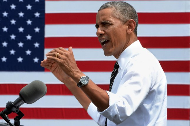 U.S. President Barack Obama delivers remarks on the economy after touring the Federal Highway Administration's Turner-Fairbank Highway Research Center in McLean, Virginia on July 15, 2014. UPI/Pat Benic