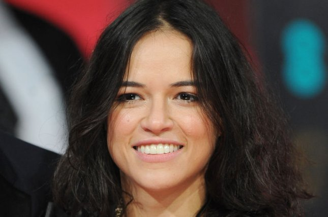 American actress Michelle Rodriguez attends the EE British Academy Film Awards 2014 at The Royal Opera House in London on February 16, 2014. UPI/Paul Treadway