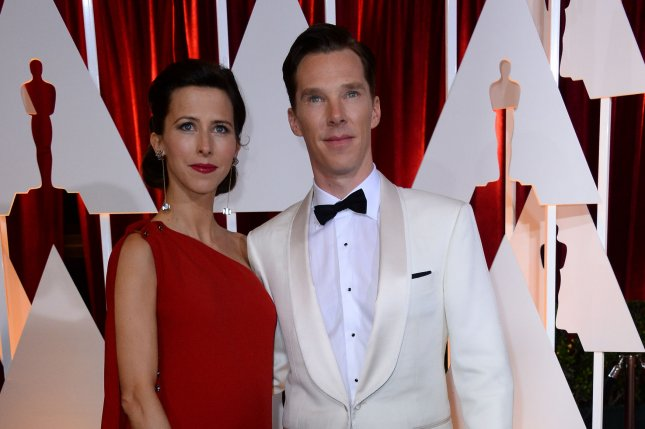 Actor Benedict Cumberbatch (R) and director Sophie Hunter arrive at the 87th Academy Awards at the Hollywood & Highland Center in Los Angeles on Feb. 22, 2015. Photo by Jim Ruymen/UPI