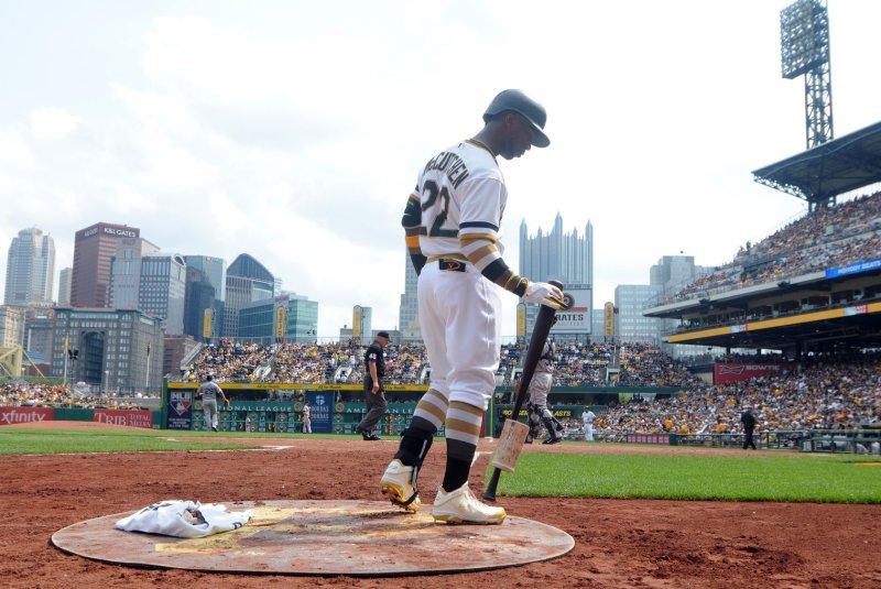 Pittsburgh Pirates center fielder Andrew McCutchen (22). Photo by Archie Carpenter/UPI