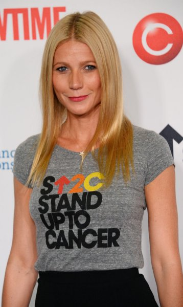Actress Gwyneth Paltrow attends the 4th Biennial Stand Up To Cancer fundraiser at the Dolby Theatre in the Hollywood section of Los Angeles on September 5, 2014. The star-studded one-hour telecast was broadcast live simultaneously on commercial-free broadcast and cable networks. UPI/Jim Ruymen