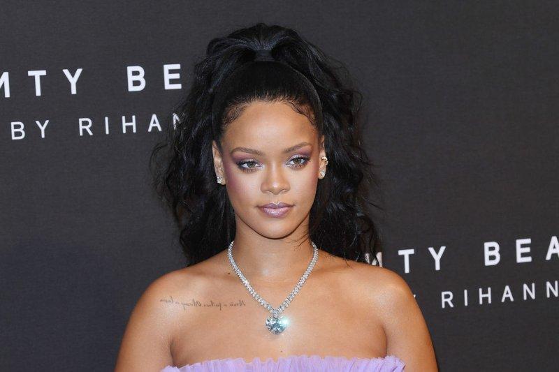 Rihanna attends the Fenty Beauty by Rihanna launch in London on Tuesday. Photo by Rune Hellestad/UPI