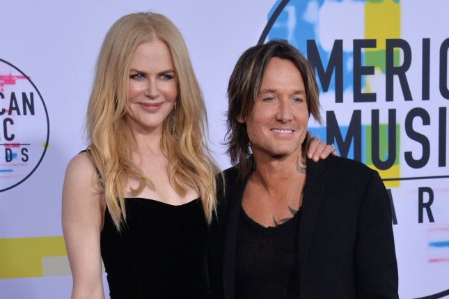 Keith Urban (R), pictured with Nicole Kidman, congratulated the star after she was nominated for Best Actress in a Limited Series for Big Little Lies. File Photo by Jim Ruymen/UPI