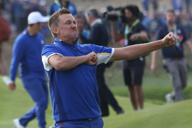 Ian Poulter has three victories and 48 top-10 finishes on the PGA Tour, but has 12 wins on the European Tour. File Photo by David Silpa/UPI