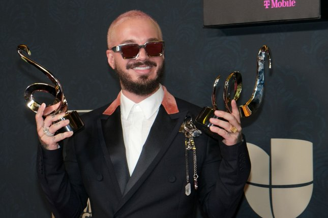 J Balvin wins two awards at the Univision 2020 Premio Lo Nuestro award show at the American Airlines Arena in Miami on February 20, 2020. The singer turns 36. File Photo by Gary I Rothstein/UPI