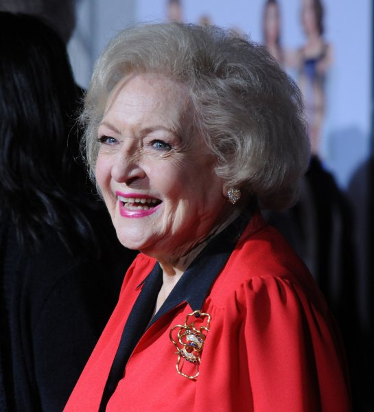 Betty White, a cast member in the motion picture comedy You Again, attends the premiere of the film at the El Capitan Theatre in the Hollywood section of Los Angeles on September 22, 2010. UPI/Jim Ruymen