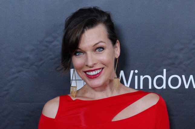 Milla Jovovich at the amfAR Inspiration Gala on October 29, 2014. The actress teased 'Resident Evil: The Final Chapter' in a new photo Thursday. File photo by Jim Ruymen/UPI
