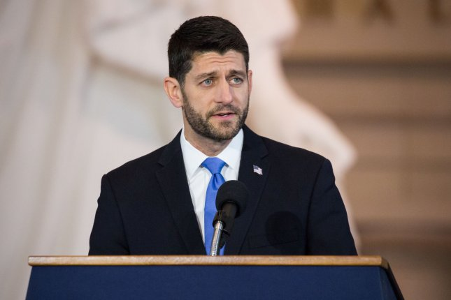 House speaker Paul Ryan on Monday said lawmakers in Congress may not meet a Friday deadline to pass a spending bill and keep the government operating -- in which case the House and Senate would need to work into the weekend before leaving for the holiday break. Photo by Erin Schaff/UPI.