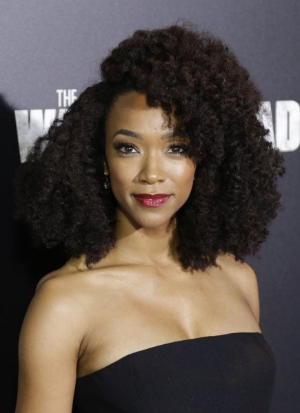 Sonequa Martin-Green arrives on the red carpet at AMC's The Walking Dead' Season 6 fan premiere event on October 9, 2015. Martin-Green stars in the first trailer for Star Trek: Discovery alongside Michelle Yeoh. File Photo by John Angelillo/UPI