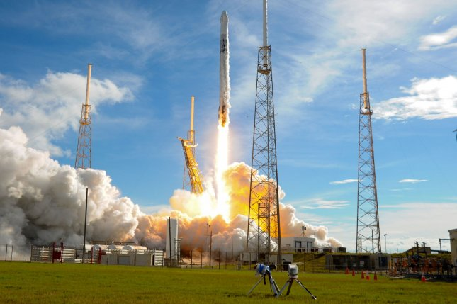 A SpaceX Falcon 9 rocket launches a cargo Dragon spacecraft on a mission to deliver more than 5,000 pounds of supplies and experiments to the International Space Station on July 25. Photo by Joe Marino-Bill Cantrell/UPI