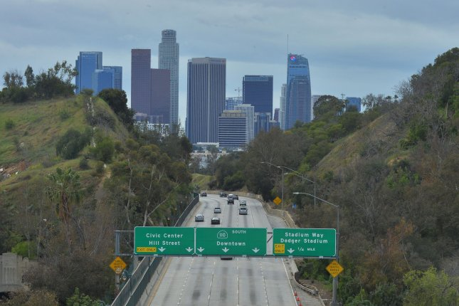 Los Angeles and parts of the state of California are prone to earthquakes, due partly to the San Andreas Fault, which runs from Northern California, down past Los Angeles to the east, and culminates near the U.S.-Mexico border. File Photo by Jim Ruymen/UPI