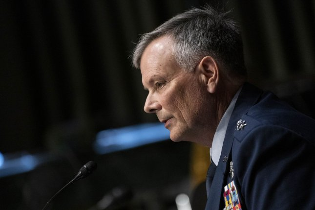 Air Force Gen. Glen D. VanHerck participates in a Senate Armed Services Committee nomination hearing on Capitol Hill in Washington, D.C., U.S., on Tuesday, July 28, 2020. VanHerck is nominated to be general and commander of the U.S. Northern Command and commander of the North American Aerospace Defense Command. Photo by Sarah Silbiger/UPI