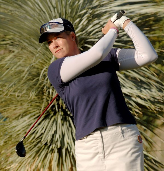 Brittany Lincicome, shown in the Samsung World Championship Oct. 14, 2006. (UPI Photo/Christine Chew)