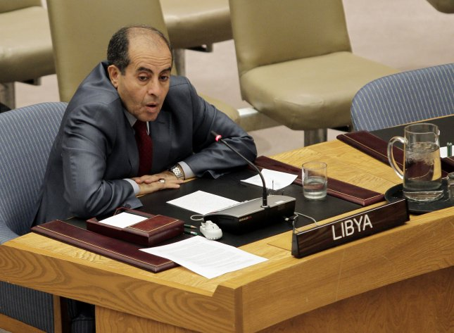Libya Prime Minister, Mahmoud Jibril speaks to the U.N. Security Council members on the situation in Libya during the 66th UN General Assembly at the United Nations headquarters in New York, September 26, 2011. UPI/John Angelillo
