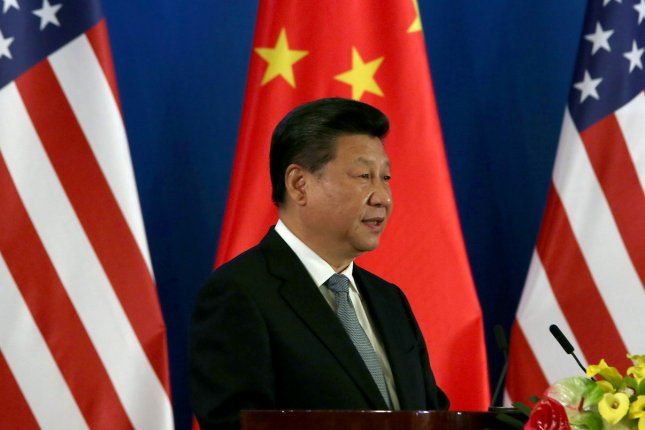 President Xi Jinping was named core leader of Chinese Communist Party on Thursday, a title that was abandoned during the term of Xi's predecessor Hu Jintao. File Photo by Stephen Shaver/UPI