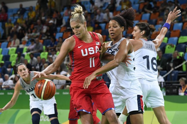 Washington Mystics star Elena Delle Donne (L), who underwent off-season back surgery, is the reigning WNBA MVP. File Photo by Mike Theiler/UPI