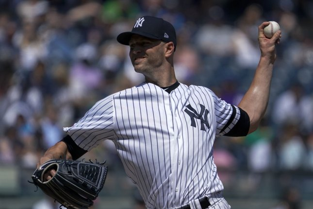 Former New York Yankees starting pitcher J. A. Happ (pictured) will join a Minnesota Twins rotation that includes Kenta Maeda, Jose Berrios and Michael Pineda. File Photo by Ray Stubblebine/UPI