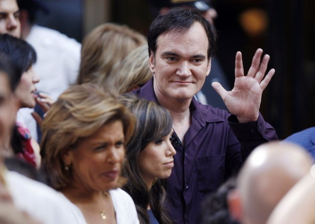 Quentin Tarantino stands in the audience waiting to watch Flo Rida perform on the NBC Today show live from Rockefeller Center in New York City on August 14, 2009. UPI/John Angelillo