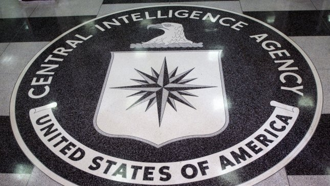 The seal of the Central Intelligence Agency sits on the floor of the foyer at the CIA Headquarters, Langley, VA. (UPI Photo/Dennis Brack/Pool)