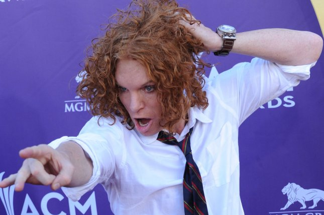 Sharknado 4 cast member Carrot Top arrives at the 47th annual Academy of Country Music Awards in Las Vegas on April 1, 2012. File Photo by Jim Ruymen/UPI