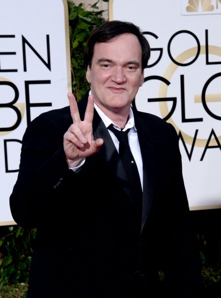 Quentin Tarantino attends the 73rd annual Golden Globe Awards at the Beverly Hilton Hotel in Beverly Hills on January 10, 2016. The filmmaker and actor took part in a Tribeca Film Festival screening and panel discussion celebrating the 25th anniversary of his first movie Reservoir Dogs. File Photo by Jim Ruymen/UPI