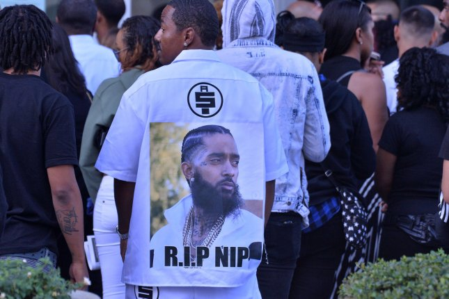 Mourners enter the Staples Center in Los Angeles April 11 for Nipsey Hussle's memorial service. File Photo by Jim Ruymen/UPI