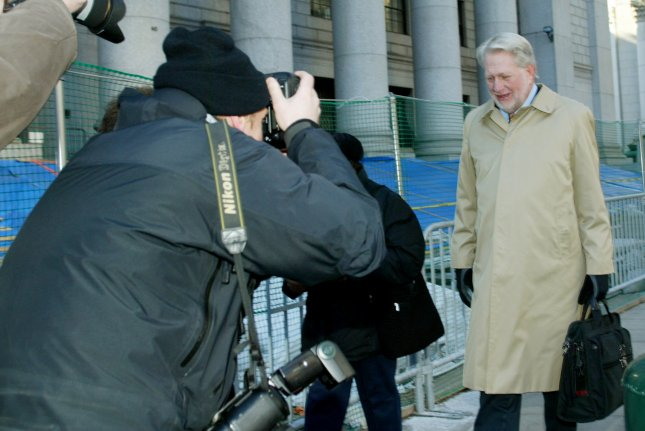 Former WorldCom CEO Bernard Ebbers arrives at New York Federal Court during his trial on March 15, 2005, in New York City. He died Sunday at the age of 78. File Photo by Monika Graff/UPI