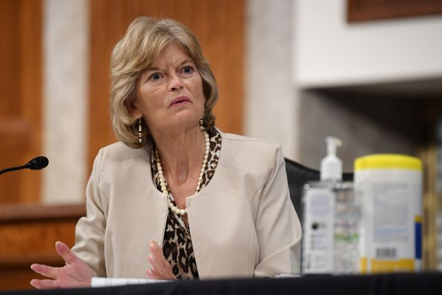 Sen. Lisa Murkowski, R-Alaska, said the COVID-19 pandemic has created a opportunities for cybercriminals to attack networks in the United States. File Photo by Kevin Dietsch/UPI