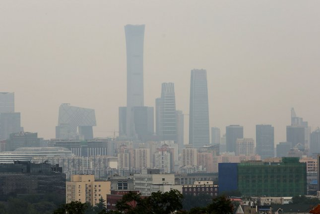 Researchers say that while many countries have reduced the pace of their carbon emissions -- including China, pictured -- pledges made in recent years must be linked to clearer, effective actions. File Photo by Stephen Shaver/UPI