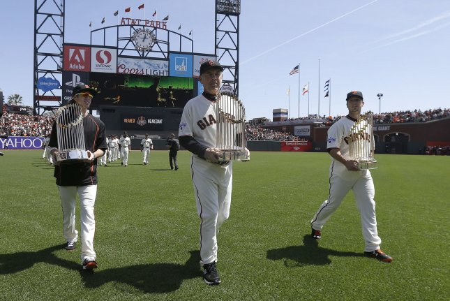 Dick Tidrow was credited with helping the Giants draft Tim Lincecum (L), Madison Bumgarner, Jonathan Sanchez and many other pitchers who led the franchise to three World Series championships. File photo by Jeff Chiu/UPI