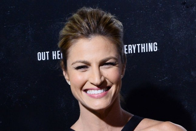 Erin Andrews said she rolled her eyes to hold back tears during Noah Galloway's proposal on 'Dancing with the Stars.' File photo by Jim Ruymen/UPI
